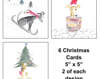 Greyhound Based Christmas Cards