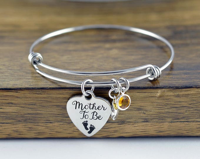 Mother To Be, Mother To Be Gift, Bangle Charm Bracelet, Gifts for Mom, Mothers Day Gift, Mother Bracelet, Peas in a Pod Jewelry, Peapod