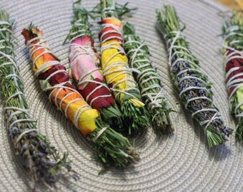 Herb, flowers smudge stick/smudge stick/flowers
