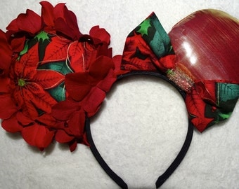 Mickey Mouse Headband Minnie Mouse Headband Minnie Mouse Ears Christmas Inspired Disney