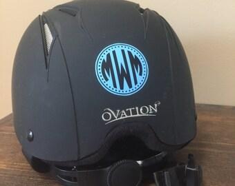 Riding Helmet Monogram
