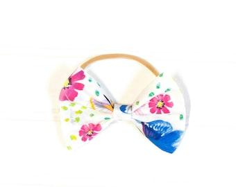 Spring floral {Harper} bow