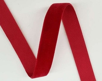 5/8'' inch Velvet Ribbon ( 6 Yards)Red