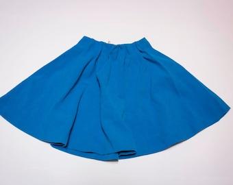 Tulip skirt with elastic waist blue