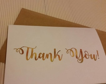 Thank you cards (pack of 10) (white envelopes) | bulk cards