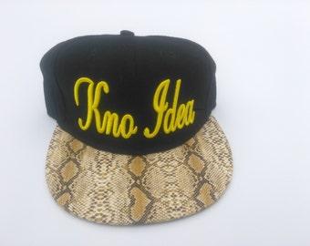 Knoidea snakeskin brim custom Snapback