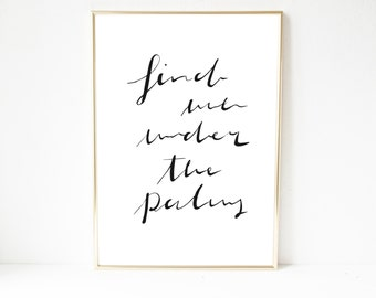 Poster, print, saying, quote, Palm
