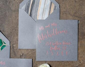 Calligraphy Addressed Envelopes