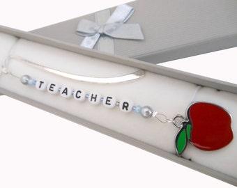 Personalised Handmade Teachers Bookmark with Gift Box
