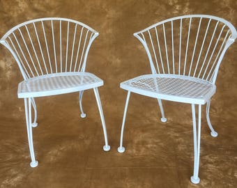 Pair of Woodard Pinecrest wrought iron chairs **** NO FREE SHIPPING****