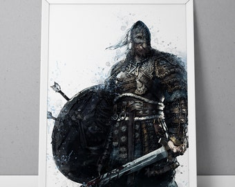 For Honor print, Viking print, For Honor poster, Viking poster, The Warborn game poster,  N.003