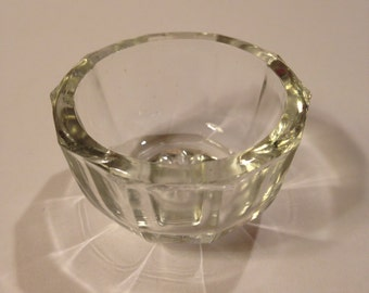 Set of 4, Pressed Glass Individual Salt Cellars, Anchor Hocking Glass 1940's