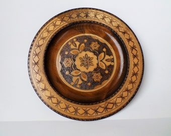 Polish Wood Plate Etsy