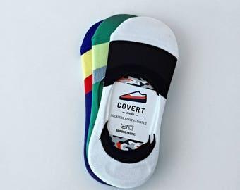 Covert Socks, sockless style elevated