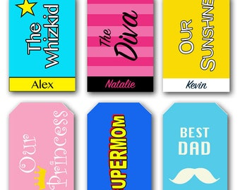 Personalized Printable Family Luggage / Bag Tags