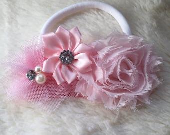 Shabby chic flower/toddler headband/baby headband/Easter headband