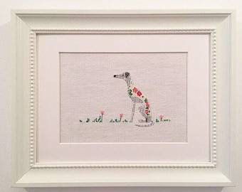 Greyhound picture, Whippet picture, Lurcher picture, Italian greyhound picture, gift for dog lover. My name is Lola!