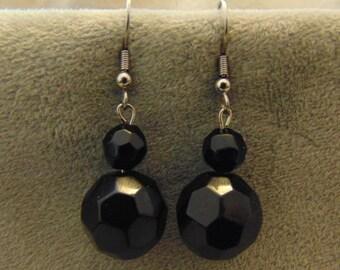 40% Off Drop Black Bead Earrings