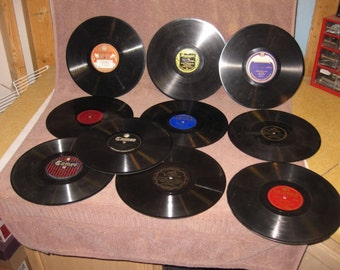Lot of 20 78 RPM Records for Victrola or Crafts Various Artists Pinterest