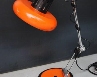 Vintage lamp desk orange