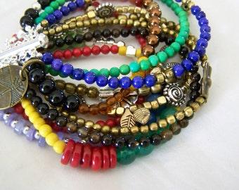 MULTI STRAND BRACELET ... an array of color