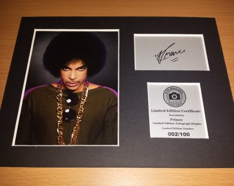 Prince - Signed Autograph Display - Fully Mounted and Ready To Be Framed -Purple Rain