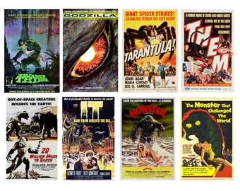 1:25 G scale model monster movie theater posters