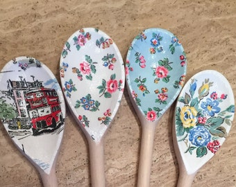 Cath Kidston Style Wooden Spoon Decorative designs
