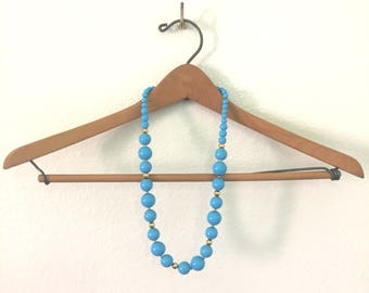 Bold in Blue Beaded Necklace