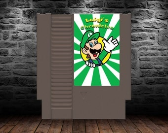 Luigi's Chronicle - Scary Good Time with Mario's Player 2 Luigi - NES - Super Mario Brothers