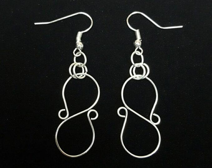 Handmade Silver Wire Earrings