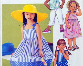 Butterick 3477  Free Shipping  Girl Dress  Size 6 to 8   Uncut