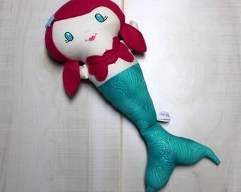 SALE Mermaid Doll, Cloth Doll, Rag Doll, Soft Doll, Baby Doll, Handmade Doll, Fabric Doll, Doll, Handmade Cloth Doll, Girl Gift