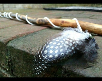 ECO CAT Ethically Sourced Minimalist Cat Wand!Hand Carved Oak Cat Teaser with Coconut Oil Seal,Eco Friendly Cat Toy,Kitten Toys,Cat Wand