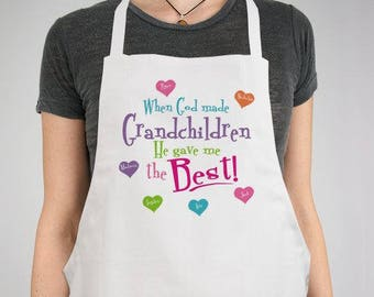 Personalized God Gave Me the Best Personalized Apron Custom Name Gift