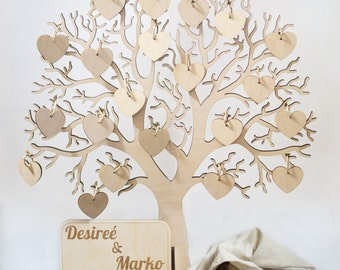 Wishing Tree Large Wooden Guest Book/Wedding wish tree guest book/Wooden guest book/Wedding guest book/Rustic wedding wishing tree guestbook