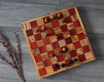 Chess board, olive wood, chess game table, gift, games, wooden games, olive wood, play chess, gift, wood