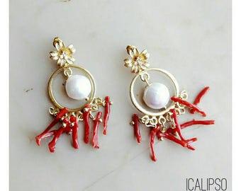 Flower jewelry for wife, girlfriend jewelry idea, boho earrings, romantic gift jewelry, jewelry gift for her, flower earrings, boho jewelry