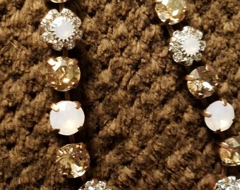Swarkovski Crystal Necklace with 8mm stones and flowers