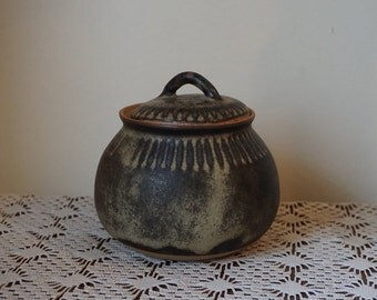 Stoneware Tremar UK Lidded Pot 1970's