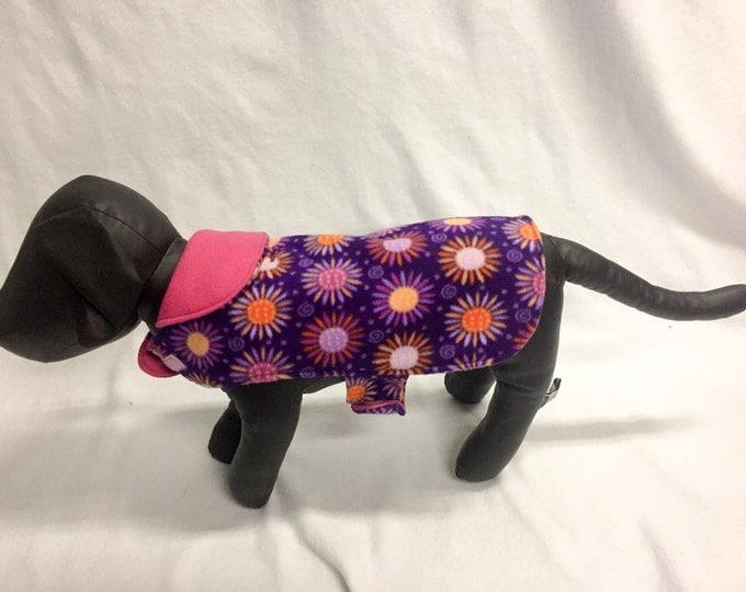 Purple and Pink Print Dog Coat 3029