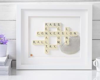 Handmade Rugby Scrabble Art. Rugby Fans. Rugby Lovers. Scrabble Art. Scrabble Tiles. Rugby Ideas. Rugby Gifts.  Gifts for Him.