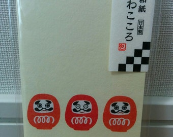 "small envelope, ""made in Japan"", Dharma(Daruma) doll"