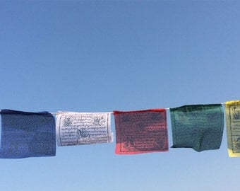Polyester Buddhist Prayer Flags- Set of 5 Roll  with 25 Flags in each (TPF13D)