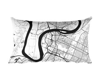 Chattanooga Pillow, Chattanooga Decor, Chattanooga Cushion, Chattanooga Throw Pillow, Chattanooga Gift, Chattanooga TN Map, Chattanooga Art