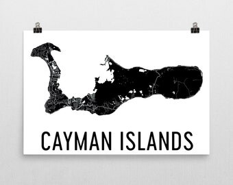 Cayman Islands Map, Map of Cayman Islands, Grand Cayman Art, Cayman Decor, Cayman Island Gift, Cayman Islands Print, Cayman Poster, Wall Art