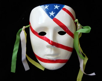Ceramic Mask Clown Wall Hanging Wearable Mask Costume Mask Parade of a Thousand Masks