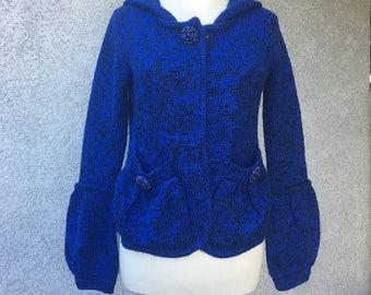 BCBG vintage Inspired blue sweater