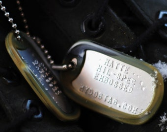 USA Military Army Style Dogtags