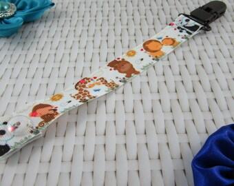 Dummy Clip / Pacifier Strap - Baby Animals